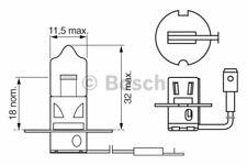 Glühlampe Glühbirne Fernscheinwerfer Bosch H3 55 Watt 12 Volt