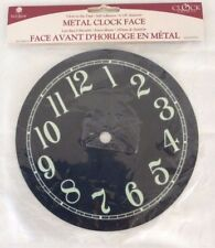 Walnut Hollow Glow-in-the-Dark Metal Clock Face, No. 27298, Black - New