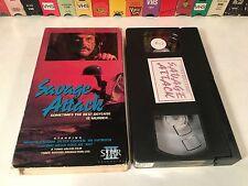 * Savage Attack aka Brothers In Blood Rare VHS 1987 Vietnam Action Bo Svenson