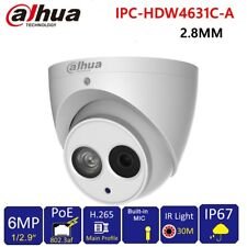 Dahua 6MP POE Built-in Mic IPC-HDW4631C-A Metal Dome Security IP Camera 2.8mm