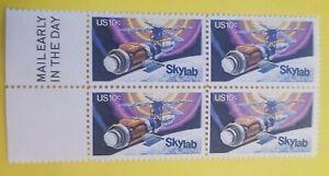 US Stamp Block featuring SKYLAB #1529, MNH