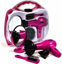 Girls Toy Vanity Beauty Battery Operated Hairstyler Carry Case Hair Dryer