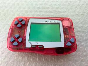 "Console Wonderswan Skeleton Pink ""No Box/No Manual"" Bandai Japan Import"