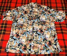 Vintage Go Barefoot Button Front Hawaiian 100% Rayon Shirt Sz XL Short Sleeve
