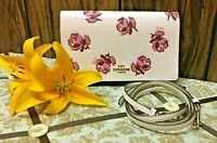NWT Coach Hayden  Floral Print Foldover Crossbody Clutch Leather Bag w/dust bag
