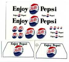 Minnitoys Pepsi Cola Beverage Truck Replacement Decal Set 2