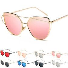 SUMMER Womens Glasses Metal Flat Lens Mirrored Girl Outdoor Oversized Sunglasses
