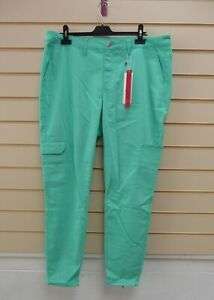 """Sheego Women's Green Trousers Size 22 Inside Leg 32""""  BNWT  G045"""
