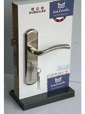 Door Handles Lever Lock Internal External Chrome Brushed Steel On Plate 7 Keys