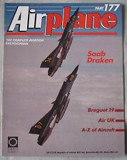 Airplane Issue 177 Saab Draken cutaway & poster, Breguet 19 cutaway drawing