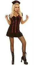 POLYESTER ELASTHAN BLACK LINGERIE GOTHIC NIGHT NURSE COSTUME DRESS LARGE L