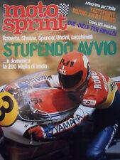 Motosprint 13 1982 Test Suzuki XN 85 Turbo - Roberts Sheene Spencer Unci [SC.31]