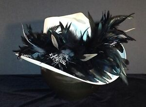 Oakland Raiders Feather Team Colors Cowboy Hat - $100 Gift Card with Purchase