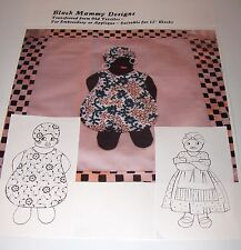 Vintage Quilt Pattern Black Mammy Aplique & Embroidery