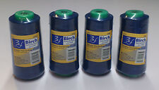 BIRCH POLYESTER OVERLOCKER THREAD 2500MT : ROYAL - PACK OF 4  SPOOLS