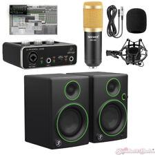 Mackie CR3 Monitors Rec Bundle Behringer UM2 Audio Interface & Mic w/Pro Tools