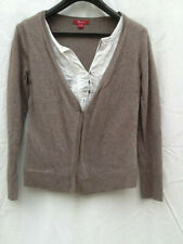 Monsoon Ladies Taupe Beige Cardigan with Blouse insert Size 10