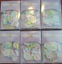 (6) PACKAGES BABY SHOWER CONFETTI PACIFIERS BOTTLES RATTLES BABY FEET NEW