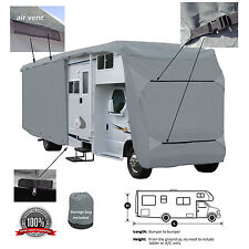 Deluxe 4-Layer Class C RV Motorhome Camper Cover Fits 20' 21'L Zipper Access