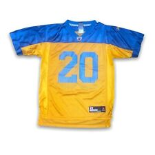 Throwback RBK Dawkins Eagles Jersey Yellow And Blue 20 Boys Size L 14/16