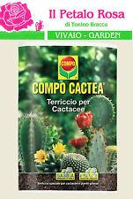 COMPO CACTEA TERRICCIO PER PIANTE GRASSE, GRASSA, CACTACEE, TERRA, SABBIA LT 5