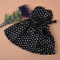 Handmade Black Dress Clothes with White Dot for 18 inch Doll Kids Gift&
