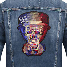 Large Skull Clothes Patch Applique Sew On Iron On Embroidery Lace Fabric Badge
