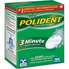 Polident 3 Minute Tablets Denture Cleanser 84 counts