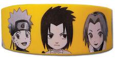 **Legit** Naruto Shippuden Naruto Sasuke & Sakura Authentic PVC Wristband #54112