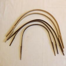 "Basket making supplies Notched hardwood handles - lot of 5 - 10"" to 14"""