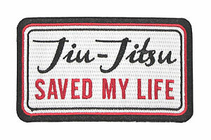 Jiu Jitsu BJJ Gi Patch JIU-JITSU SAVED MY LIFE Jiu Jitsu Gift IRON-ON Stocking