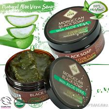 Jabón Negro Marroquí Natural Orgánico Aloe Vera Beldi Jabón exfoliante de cuerpo cuidado de la piel
