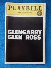Glengarry Glen Ross - John Golden Theatre Playbill w/Ticket - April 3rd, 1984