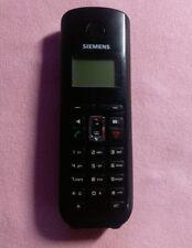 Siemens Gigaset A58H Zusatz Mobilteil Handgerät +Akkus schwarz Telefon A580 A585