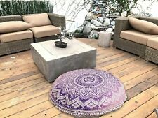 Mandala Round Floor Pillow Pouf Cover Cushion Cover Meditation Cushion size 32""