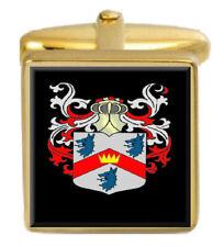 Abercrombie Escocia Familia Crest Escudo De Armas Gemelos De Oro Caja Grabado