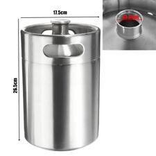 5L 170oz Beer Stainless Steel Mini Keg Growler Mini Keg Style Home Brew Brewing