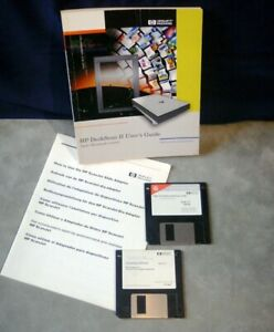 Vintage Hewlett Packard Scan Jet 6100 MAC software installer OCR manuals Job LOT