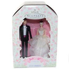 1997 Barbie and Ken Wedding Day Hallmark Keepsake Ornament Set of 2 Brand New