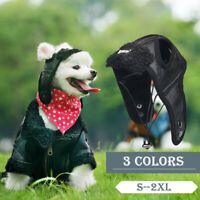 Windproof Pet Aviator Cap Cosplay Dog Protection Hats Costume Funny Warm A12CA