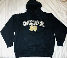 NOTRE DAME Heavyweight Hooded Sweatshirt By Cadre Mens Large