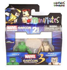 Marvel vs Capcom 3 Minimates TRU Toys R Us Wave 1 Hulk & Mike Haggar