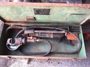 BURNDY Y10FP HYDRAULIC CRIMPING MACHINE WITH BICC-BURNDY HYPRESS Y35