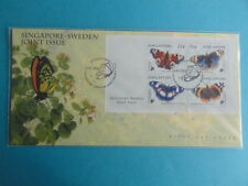 1999 First Day Cover Miniature Sheet - Singapore Sweden Joint Issue Butterflies