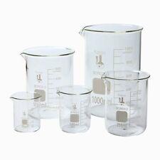 5 Graduated Glass Beaker Set 50 100 250 500 1000 ml Chemistry Lab Low Form