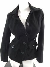 BONGO WOMENS BLACK WOOL BLEND JACKET JRS SIZE S