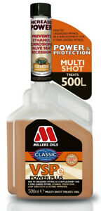 Millers Oils VSPe Power Plus Multishot Ethanol Lead Octane Fuel Treatment 500ml