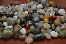 New listing 120+ Pcs Bulk Assort Mix Tumbled Agate Stone Rock Pebbles Aquarium 3 Lbs #Bd-16