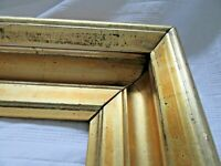 "Antique Fits 9 X  12"" Bright Lemon Gold Gilt Picture Frame Wood Gesso Fine Art"