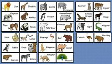 ZOO ANIMALS FLASHCARDS PRESCHOOL PICTURE FLASH CARDS CHILDREN
